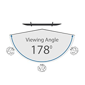 178 degree viewing