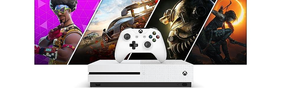 Microsoft Xbox One S - Pack con consola 1TB + 2 Mandos, 3 Meses De ...