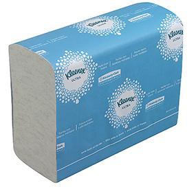 El tejido ofrece una alta absorción en las toallas secamanos de las gamas Kleenex y Scott ...
