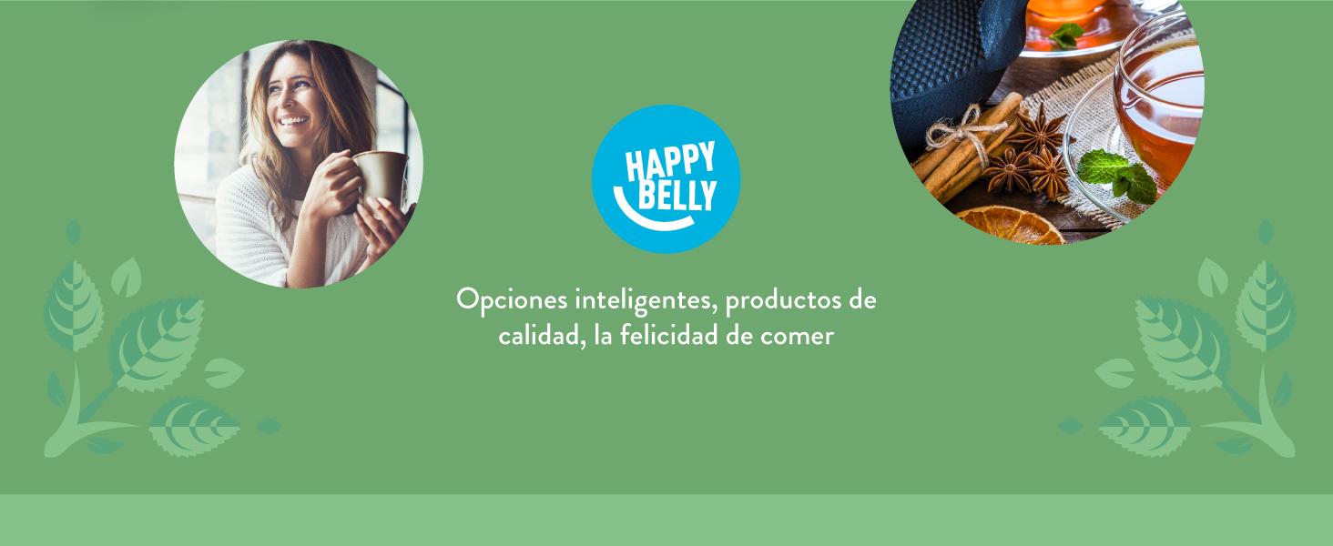 Opciones inteligentes, productos de calidad, la felicidad de comer