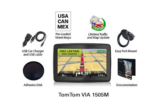TomTom VIA M World Traveler Edition GPS Navigator With - Gps with us and europe maps