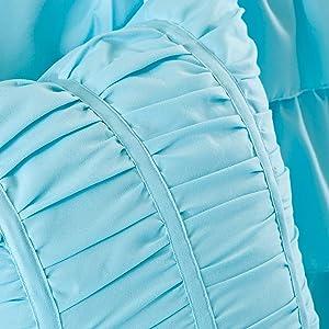 Grey 5 – Ruffles Intelligent Design Waterfall Comforter Set Full//Queen Size