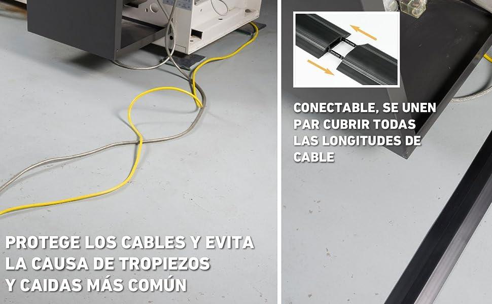 Mini Canal Portacables de 2 Metros de D-Line | Cubierta de Cable Autoadhesiva Decorativa | Popular Solución de Gestión de Cables | 30 mm (Anch.) x 15 ...