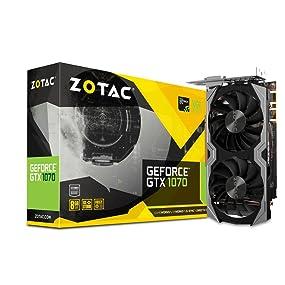 Zotac NVIDIA GeForce GTX 1070 8 GB AMP Edition GDDR5 VR Ready Graphics Card  - Black