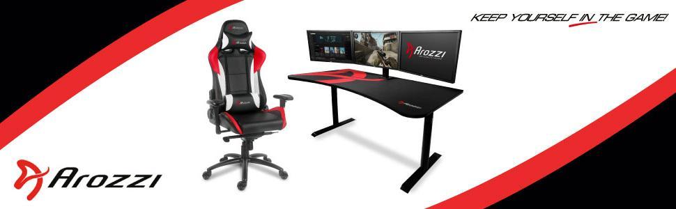 Arozzi Arena Na Green Arena Gaming Desk Green Amazon Ca