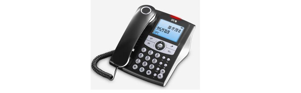 SPC Elegance ID teléfono fijo con agenda de 70 nombres y números, memorias directas y posibilidad de funcionar sin pilas: Spc: Amazon.es: Electrónica