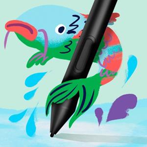 自然な描き味のペン