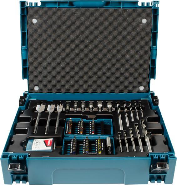 makita b 43044 drill and bit set 0 v blue black diy tools. Black Bedroom Furniture Sets. Home Design Ideas