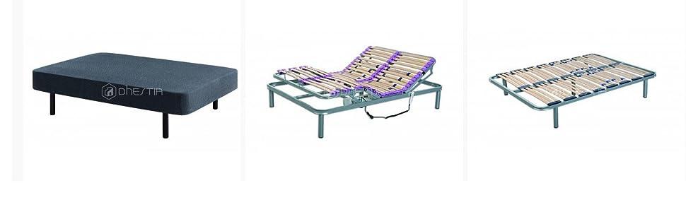 DhestiaHome. Canapé Abatible de Madera de Gran Capacidad con Ventilación. Altura 29cm. (190x90 cm, Wengué)