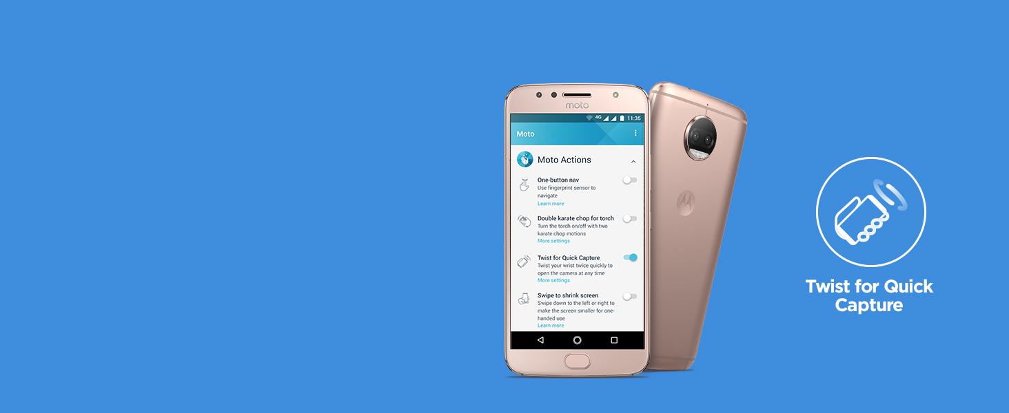 Motorola G5s Plus (Lunar Grey, 64GB)