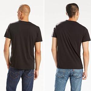 Espalda de camiseta básica Negra interior de hombre Levis