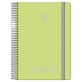 Dohe Gloss Trendy - Agenda 2018, 15 x 21 cm, color verde