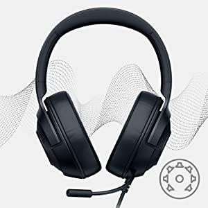Razer Kraken X, Gaming headset, 7.1 Virtual Surround Sound, Esports, Wired Headset