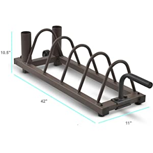 """Details about  /2/"""" Barbell Plate /& Dumbbell Racks Horizontal Olympic Plate Rack Weight Home Gym"""