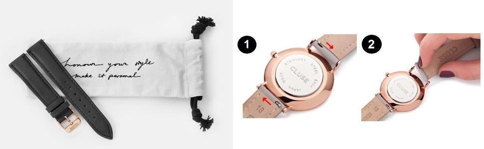 cluse damen armbanduhr analog quarz edelstahl cl18111. Black Bedroom Furniture Sets. Home Design Ideas