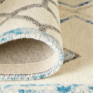 Amazon Com Rivet Geometric Boho Wool Rug 8 X 10 Cream