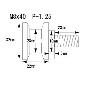 ポッシュ(POSH) バイクミラー マシンドZIIタイプミラー 汎用 10mm(正ネジ) ブラック 031580-06