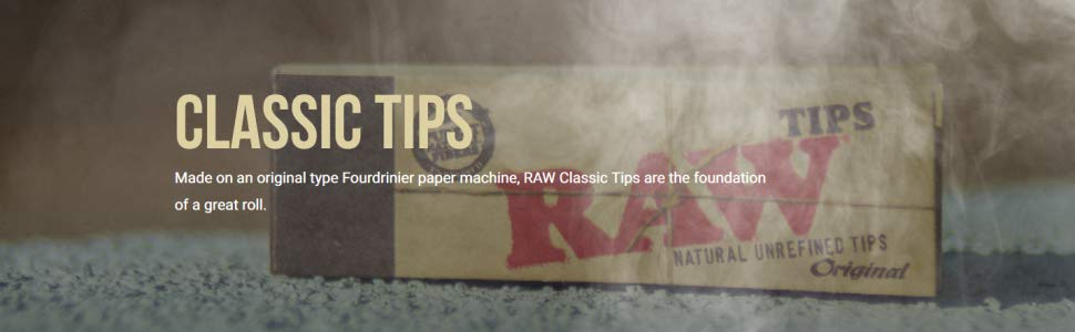 Amazon Com Raw Natural Paper Tips Brown Pack Of 50 Home Kitchen