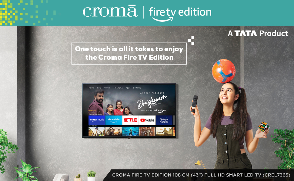 "Croma FireTV 108 cm (43"") FHD Smart LED TV"