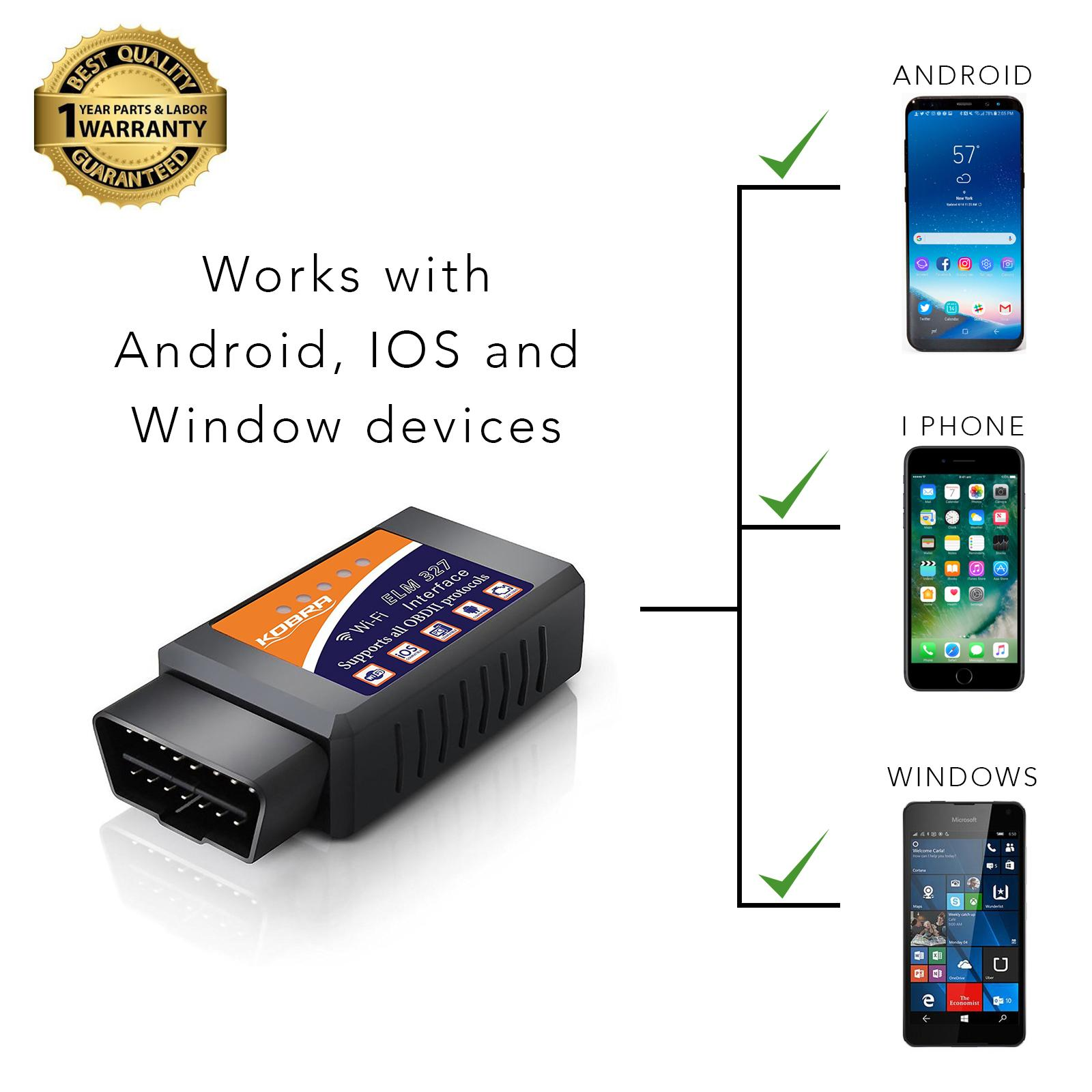 Amazon Com Obd2 Scanner Amp Wifi Car Code Reader Clears