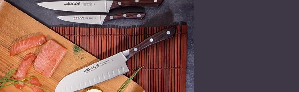 Arcos Kyoto - Taco de 5 cuchillos y tijera (6piezas)
