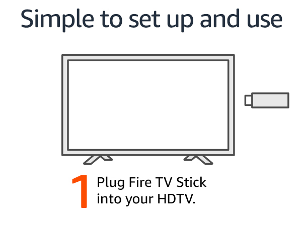 Plug Fire TV Stick into your TV.