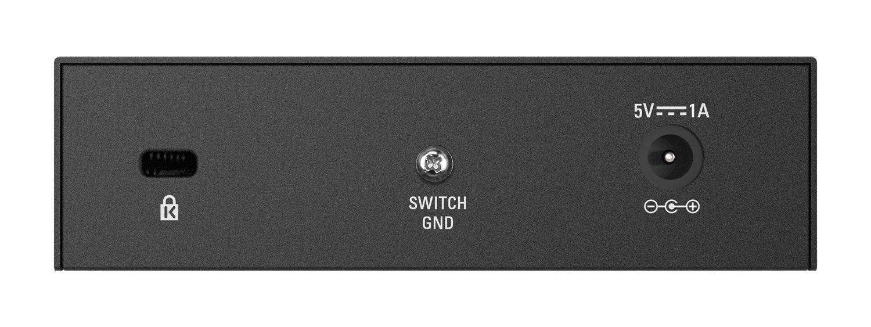 D-Link DGS-105 - Switch de red (5 puertos Gigabit RJ-45