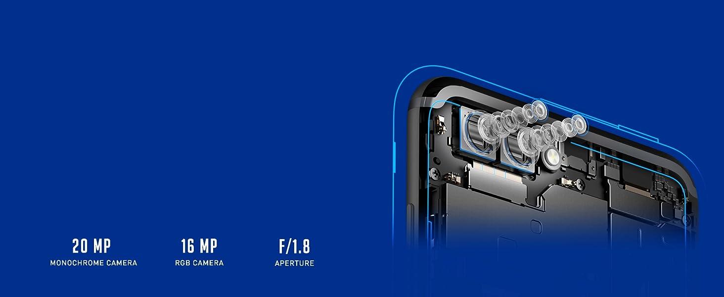 Honor View 10 Navy Blue 6gb Ram 128gb Storage Sim Card Data 8 Hari 4gb Days Japan Travel Dual Lens Camera