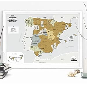 Enjoy Maps Discover Mapa Diseñada con Tinta Rascable, Papel ...
