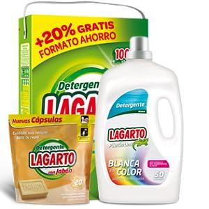 Lagarto Detergente Lavadora Liquido al Jabón - 2960 ml: Amazon.es ...