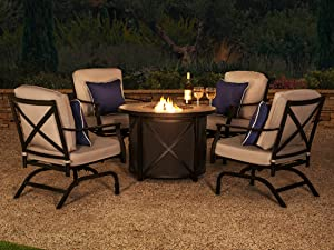 Ravenna Home outdoor collection rust and weather resistant powder coated metal