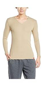 インナーシャツ 柔らか温か Vネック