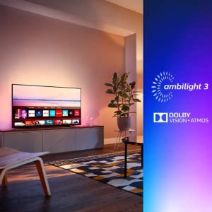 Philips 43PUS6704/12 - Televisor Smart TV LED 4K UHD, 43 pulgadas, Ambilight 3 lados, HDR 10+, Dolby Vision, Dolby Atmos, color negro: Philips: Amazon.es: Electrónica