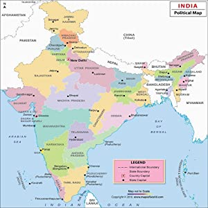 clear political map of india with states and capitals and union territories India Political Map 27 5 W X 32 H Amazon In Maps Of India Books clear political map of india with states and capitals and union territories