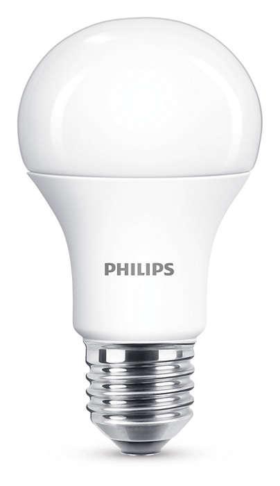 Philips lampadina led attacco e27 11w equivalente a 75w - Philips illuminazione casa ...