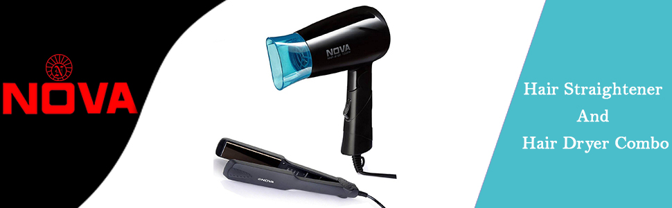 Nova Miss Freshers Combo Kit Hair Straightner and Hair Dryer
