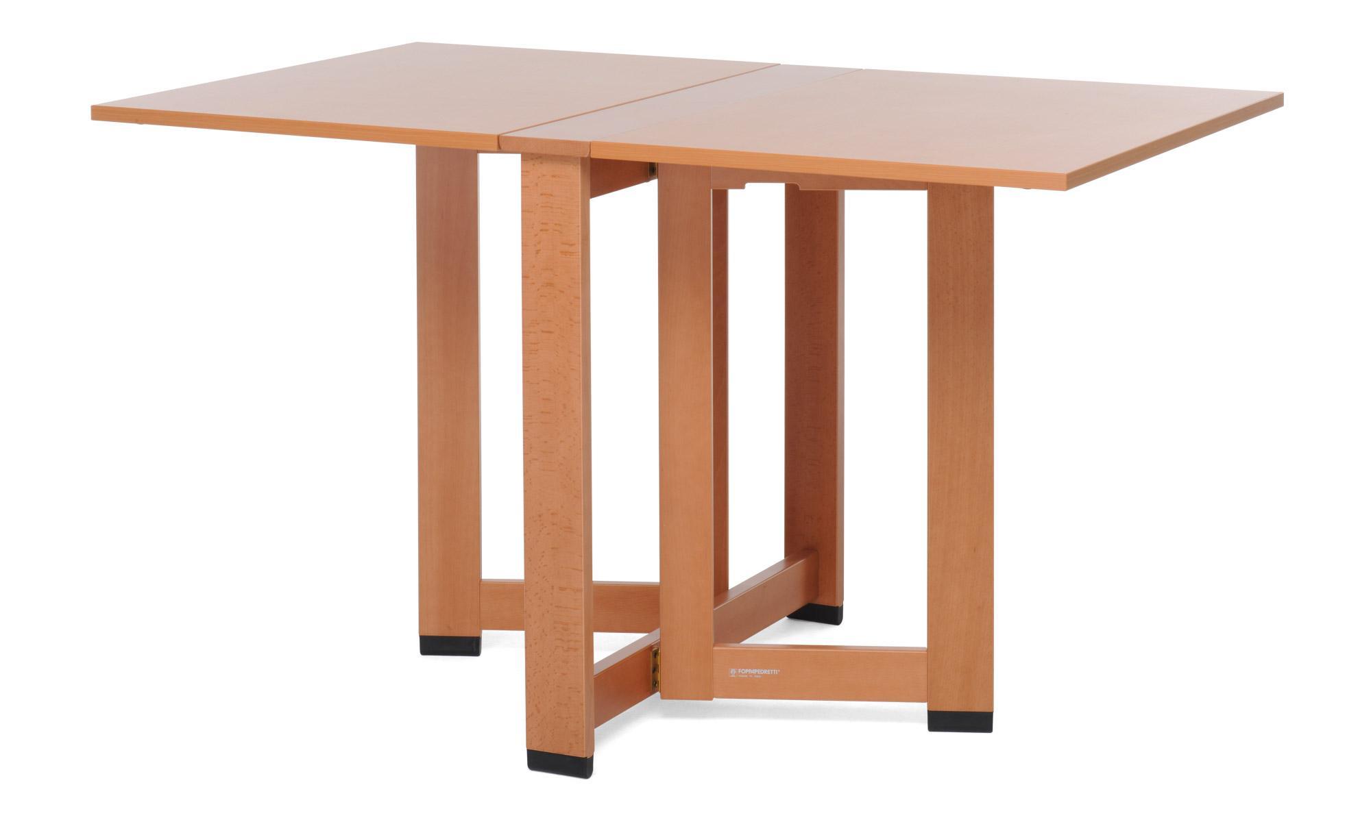 Foppapedretti cartesio tavolo pieghevole noce for Tavolo cucina richiudibile