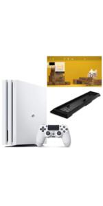 PlayStation 4 Pro グレイシャー・ホワイト 1TB 【Amazon.co.jp限定】アンサー 縦置きスタンド付&オリジナルカスタムテーマ 配信