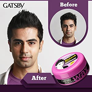 Gatsby Hair Styling Wax Extreme and Firm-Styling Steps