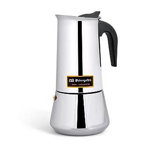 Cafetera italiana inox ORBEGOZO KFI1260 | ORBEGOZO 12 tazas Induccion Vitro Gas Electrico: Amazon.es: Hogar