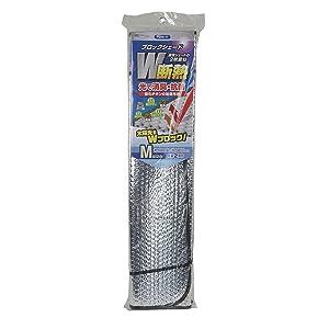 メルテック フロントサンシェード ブロックシェード Mサイズ W断熱 消臭&抗菌 1360×730 吸盤2個入り Meltec PBW-11