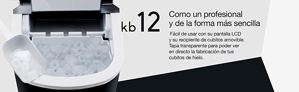 H.Koenig KB12 Máquina silenciosa para Hacer Hielo, 100 W ...
