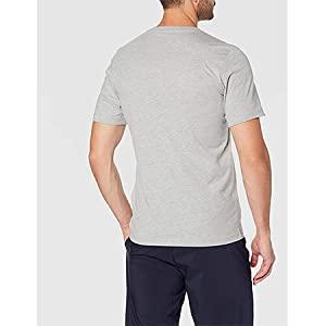 adidas mens E LIN TEE SHIRT, Color: Grey, Size: S