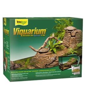 Amazon Com Tetrafauna Viqaquarium All In One Terrarium And Aquarium Ideal For Aquatic Reptiles And Amphibians Pet Supplies