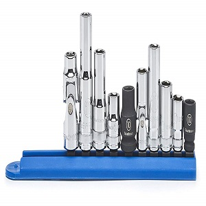 """10 Piece 1//4/"""" and 3//8/"""" Drive 6 Point 10MM Socket Set KDT80319 Brand New!"""