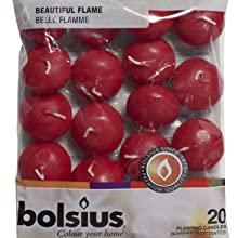Bolsius Floating Candles Dark Red
