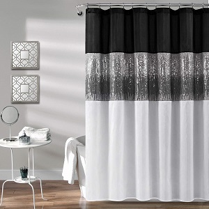 Details about  /Yellow Black Shower Curtain Jazz Quartet Stage Print for Bathroom