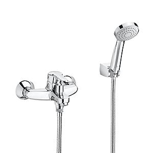 Roca A5A3125C00 Mezclador monomando exterior baño-ducha, Cromado ...