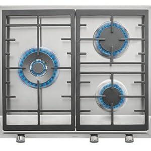 Teka EX 60 1 3G AI AL DR BUT Integrado Encimera de gas Acero inoxidable - Placa (Integrado, Encimera de gas, Hierro fundido, Acero inoxidable, hierro ...