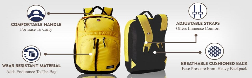 1dcd3ee255 Tommy Hilfiger Stapleton Plus Yellow Casual Backpack (8903496050134 ...